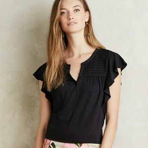 Anthropologie • Meadow Rue Ridged Yoke Tee